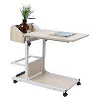 LAFGUR Portable Multifunctional Removable Laptop Desk with Wheels Drawer Bed Sofa Books, Laptop Desk with Wheels, Multifunctional Removable Laptop Desk