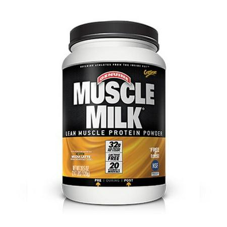 Muscle Milk Lean Muscle Protein Powder Mocha Latte, 39.5 OZ
