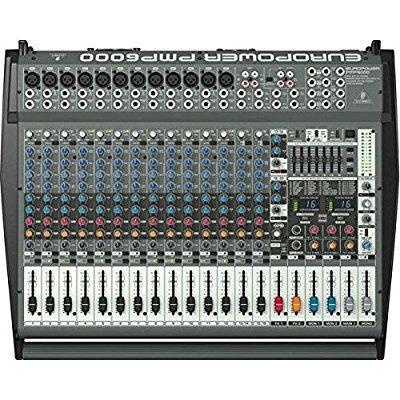 behringer europower pmp6000 1600 watt 20 channel powered mixer with dual multi fx processor and. Black Bedroom Furniture Sets. Home Design Ideas