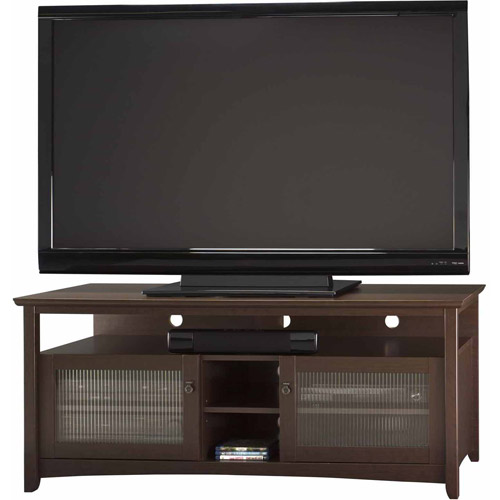 "Bush Furniture Buena Vista TV Stand, for TVs up to 60"", Mocha Cherry"