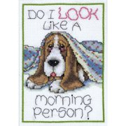Tobin Counted Cross-Stitch Kit, Morning Dog