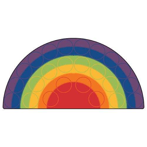 Carpets for Kids Printed Rainbow Rows Corner Area Rug