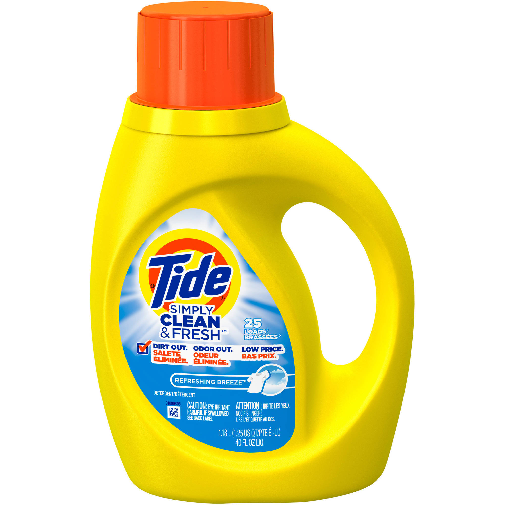 Tide Simply Clean & Fresh HE Liquid Laundry Detergent, Refreshing Breeze Scent, 25 Loads 40 fl oz