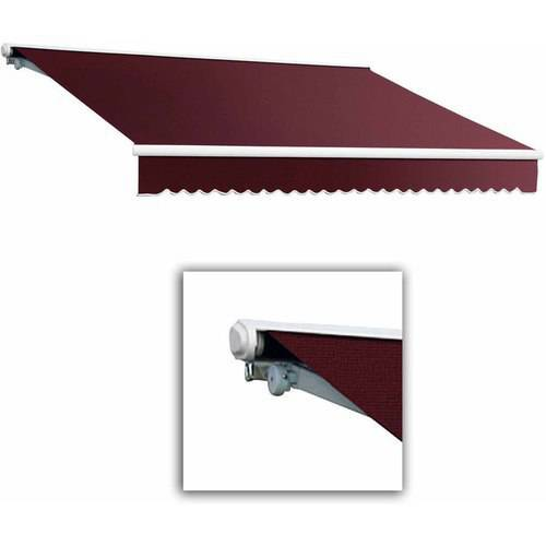 Beauty-Mark by Awntech Galveston Semi-Cassette Left Motor with Remote Retractable Awning, 8 ft.W x 7 ft.Proj