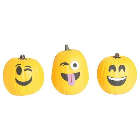 Fun Express - Emoticon Pumpkin Decorating CK-12 for Halloween - Craft Kits - Home Decor Craft Kits - 3 - D Tabletop - Halloween - 12 - Fun Halloween Crafts