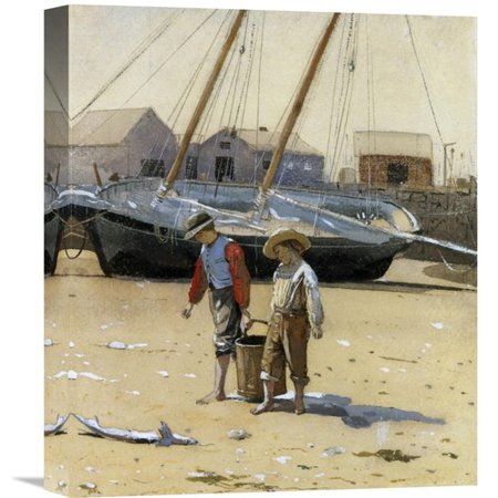 Global Gallery 'The Basket of Clams 1873' by Winslow Homer Painting Print on Wrapped Canvas