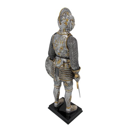 Medieval French Knight In Armor Statue Figure Armour - image 2 de 5