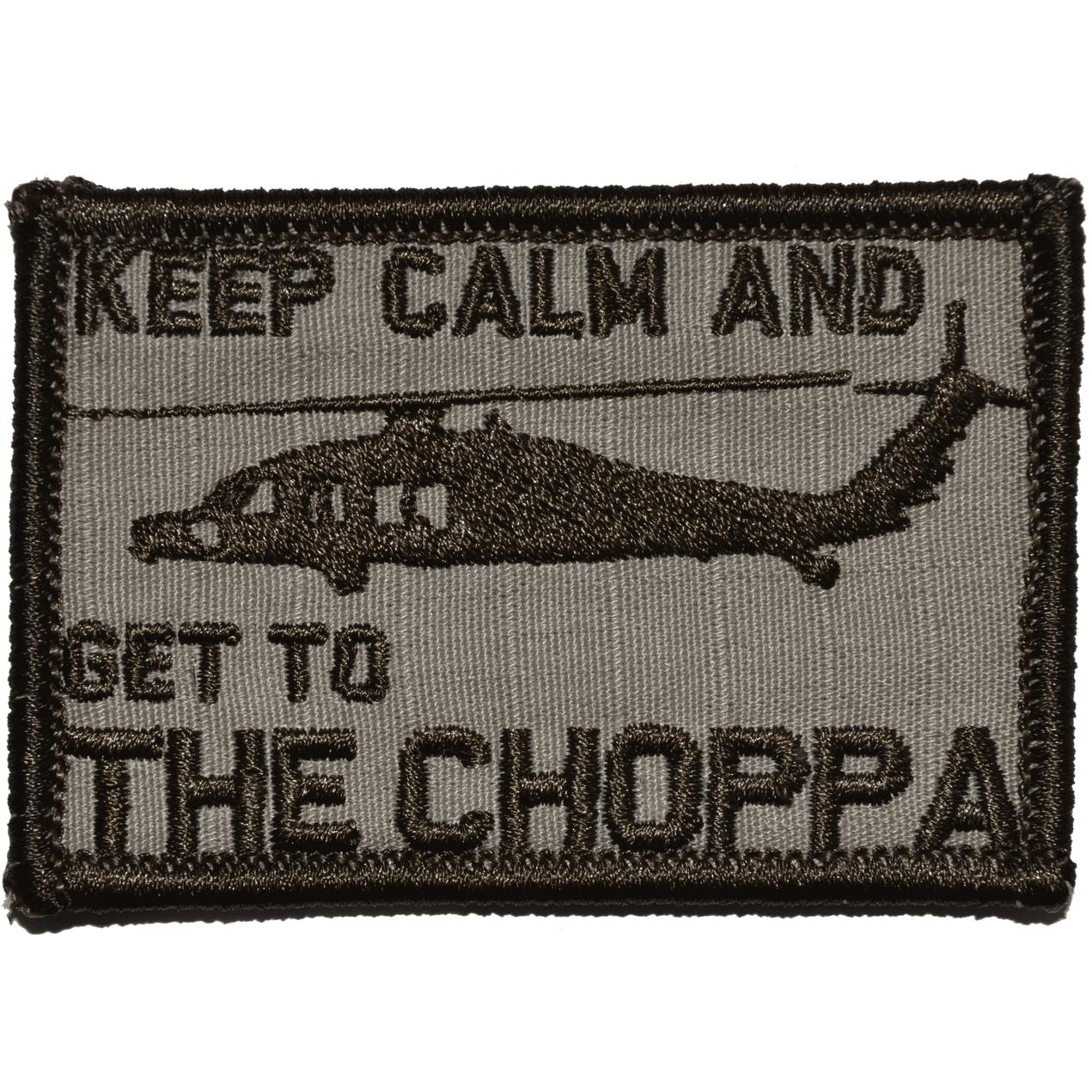 Keep Calm and Get To The Choppa! Predator Parody - 2x3 Patch