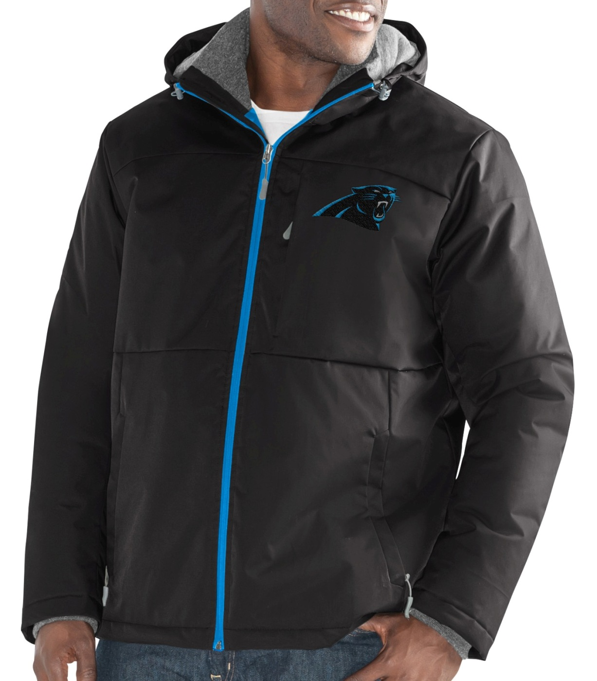"Carolina Panthers Men's NFL G-III ""Points"" Full Zip Polyfill Dobby Jacket by G-III Sports"
