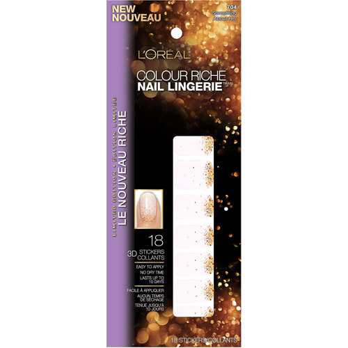 L'Oreal Paris Colour Riche Nail Lingerie, 3D Nail Stickers, 704 Something About Her, 18 count