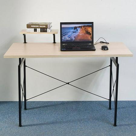 Ktaxon Computer Desk Laptop Pc Table Office Top Shelf Writing Workstation Home