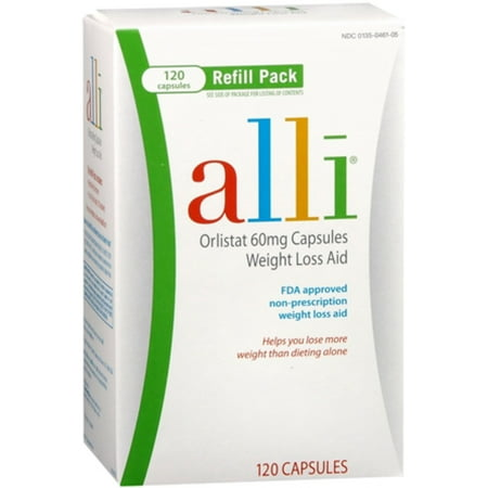 2 Pack - alli Refill Pack 120 Caps](alli slimming pills cheapest price)