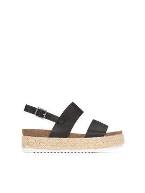 KAZO Casual Espadrilles Sole Flatform Studded Wedge Strap Open Toe Sandals