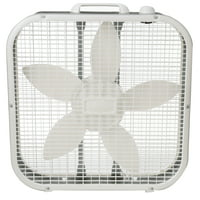 "Lasko 20"" Box 3-Speed Fan, Model B20200, White"