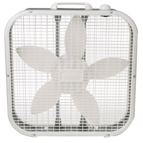 "Lasko 20"" Classic Box Fan with 3 Speeds, B20200, White"