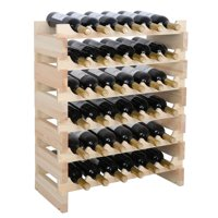 Zeny 36 Bottle Wine Rack Capacity Stackable Storage , Wobble-free, Thicker Wood