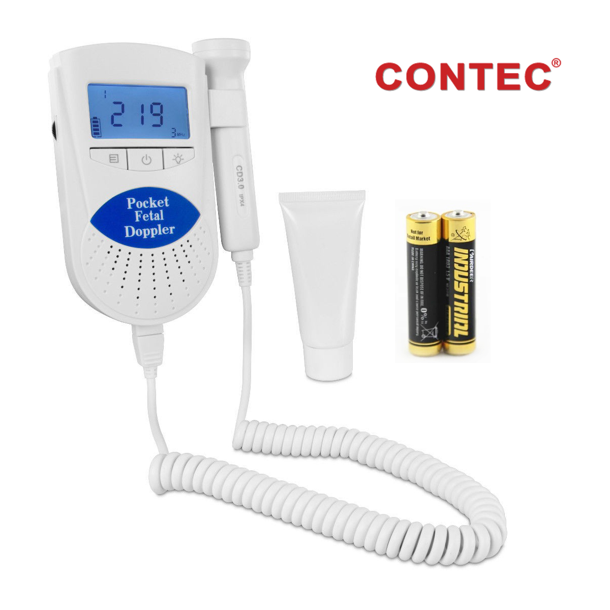 Sonoline B Fetal Doppler Baby Heart Rate Monitor Backlight LCD display with 3Mhz Probe
