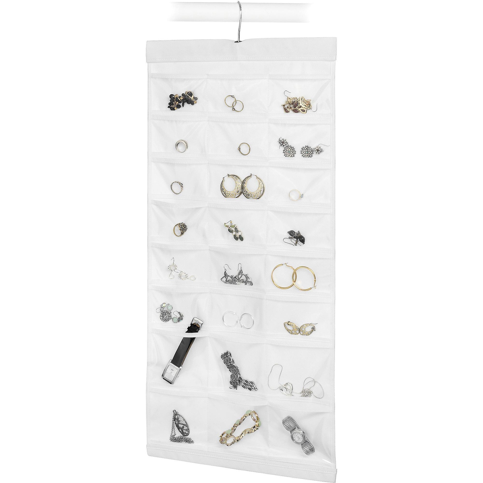 Whitmor White Hanging Jewelry File