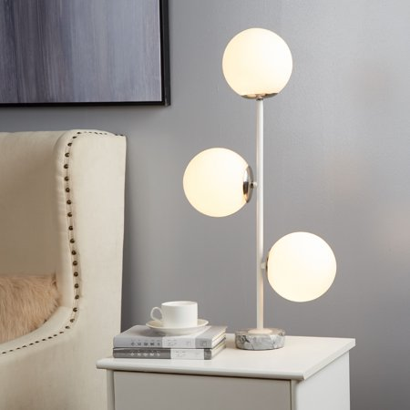 Urban Shop Silver 3 Bulb Table Lamp