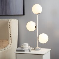 Urban Shop Silver 3 Bulb Table Lamp With Marble Base