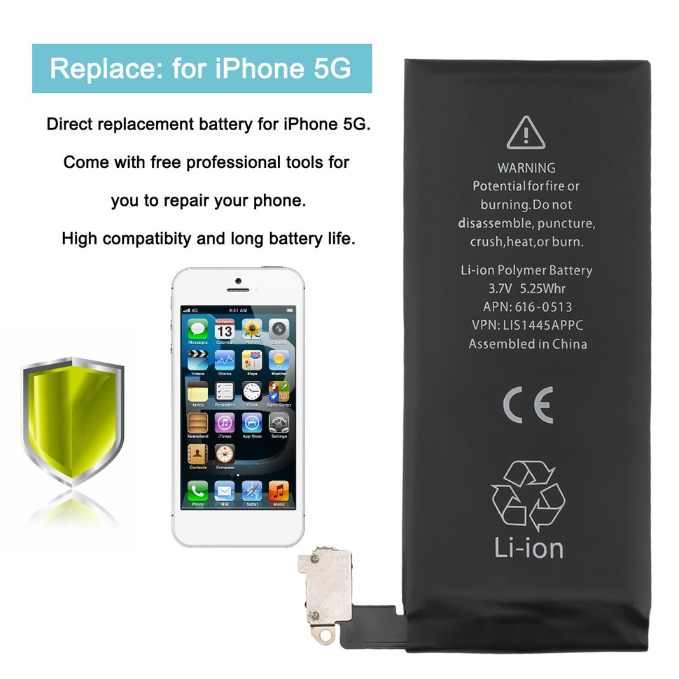 iphone ip address durable 1440mah 3 8v li ion polymer replacement battery 5 3952