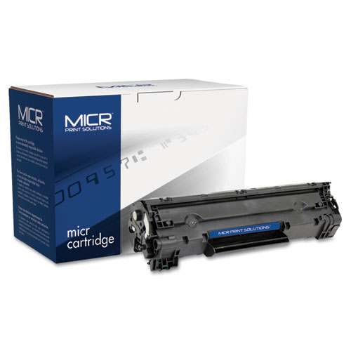 MICR Print Solutions Compatible with CB436AM MICR Toner, 2,000 Page-Yield, Black