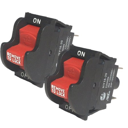 Craftsman 315228510 Table Saw Switch (2 Pack) # 089015001705
