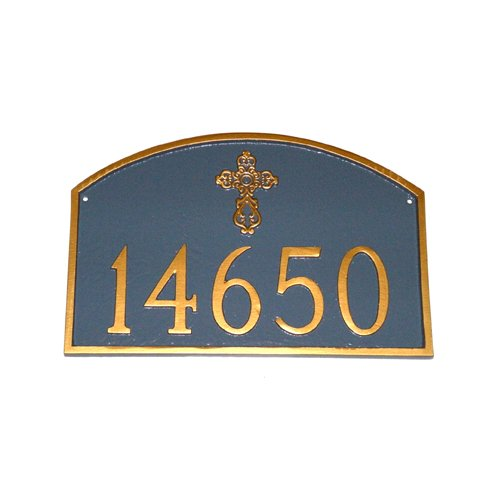 Montague Metal Products Inc. Prestige Arch with Ornate Cross Address Plaque
