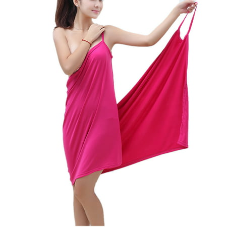 a5062cbf45908 SAYFUT - Women's Bikini Wrap Swimsuit Cover Up Strap Backless Long  V-Neckline Beach Dress Solid Color One Size - Walmart.com