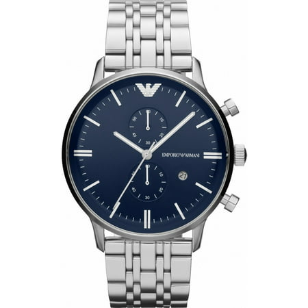Emporio Armani Men's Gianni Chronograph Stainless Steel Bracelet Watch 43mm (Armani Exchange All Black Watch)