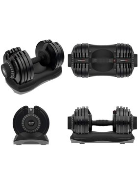 ATIVAFIT Adjustable Dumbbell 12.5/27.5/55/71.5 Pounds Fitness Dial Dumbbell with Handle and Weight Plate for Home Gym