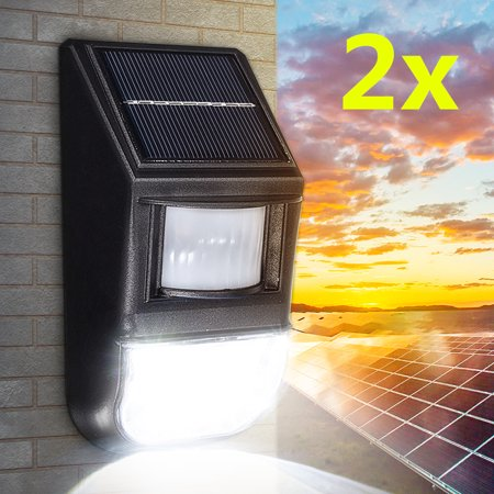 1 Solar Floodlight - 2PCS Outdoor 50-LED Solar Wall Lights Super Bright Waterproof PIR Motion Sensor Security Flood Night Lights for Garden Back Door Patio Backyard Landscape