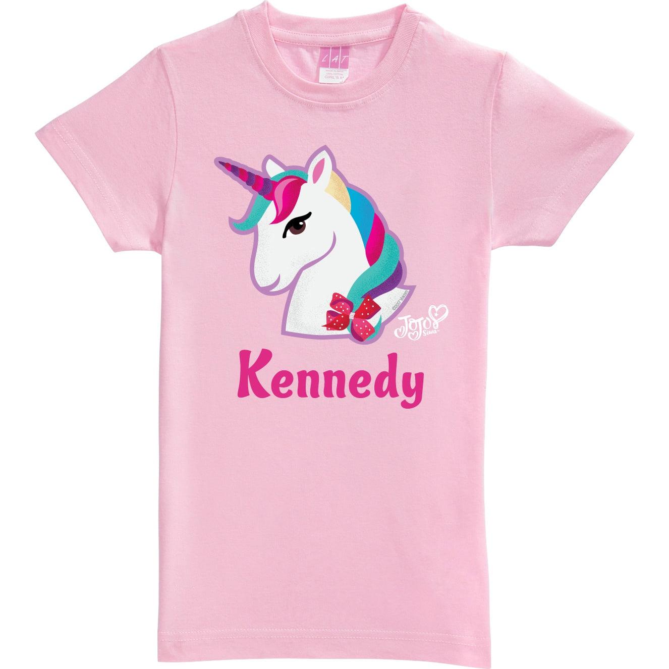 175ae2a03981 Personalized JoJo Siwa T-Shirt - Unicorn Pink Youth Fitted Tee - Walmart.com