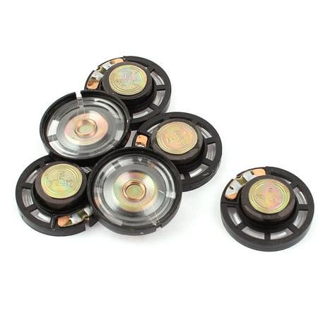 6Pcs 8 Ohm 0.25W 27mm Dia External Magnet Mini Loudspeaker Speaker Horn - image 1 of 1