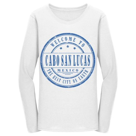 Welcome To Cabo San Lucas Long Sleeve Women's -Image by