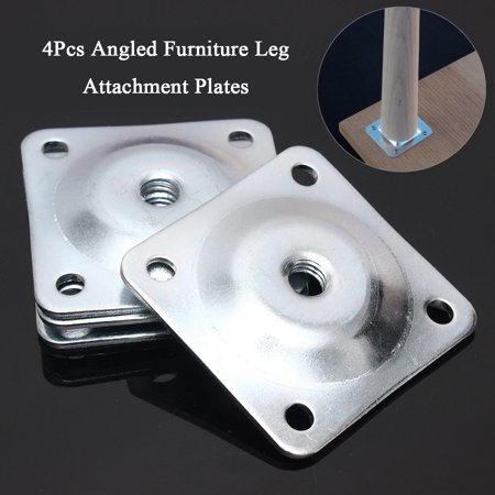 Set Of 4 Leg Fixing Mounting Plates Brackets Sofa Level Plate Feet Legs