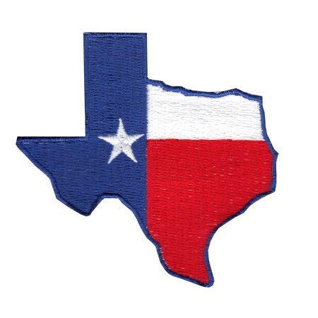 Texas Flag State Iron On Applique Patch ()
