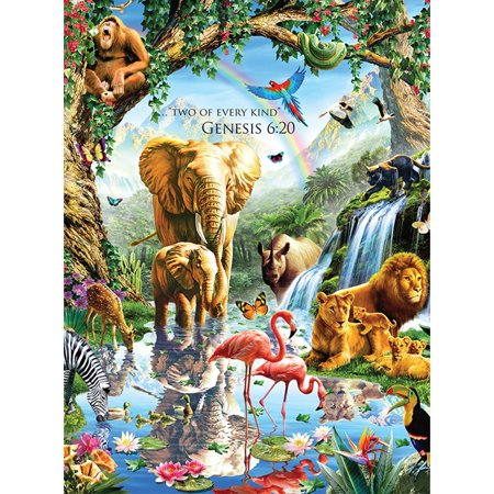 Jungle Lake 1000 Piece Puzzle,  Wildlife by LPF Limited](Wildlife Puzzles)
