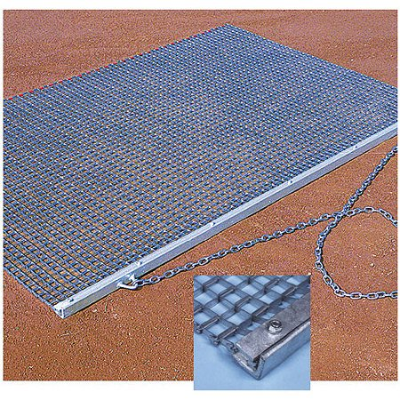 BSN Sports Baseball & Softball Heavy-Duty Drag Mat, Silver