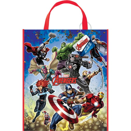 Large Plastic Avengers Goodie Bag, 13 x 11 in, 1ct - Goodie Boxes