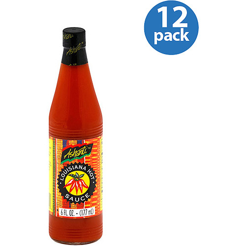 Ashanti Louisiana Hot Sauce, 6 fl oz, (Pack of 12)