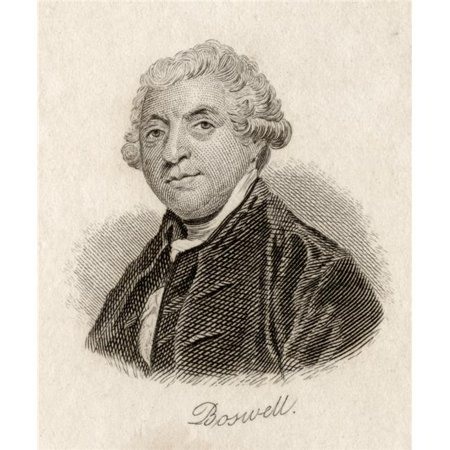 Posterazzi DPI1856802LARGE James Boswell 1740-1795. Scottish Lawyer & Essayist. Engraved by J.W.Cook Poster Print, Large - 26 x 32 - image 1 of 1