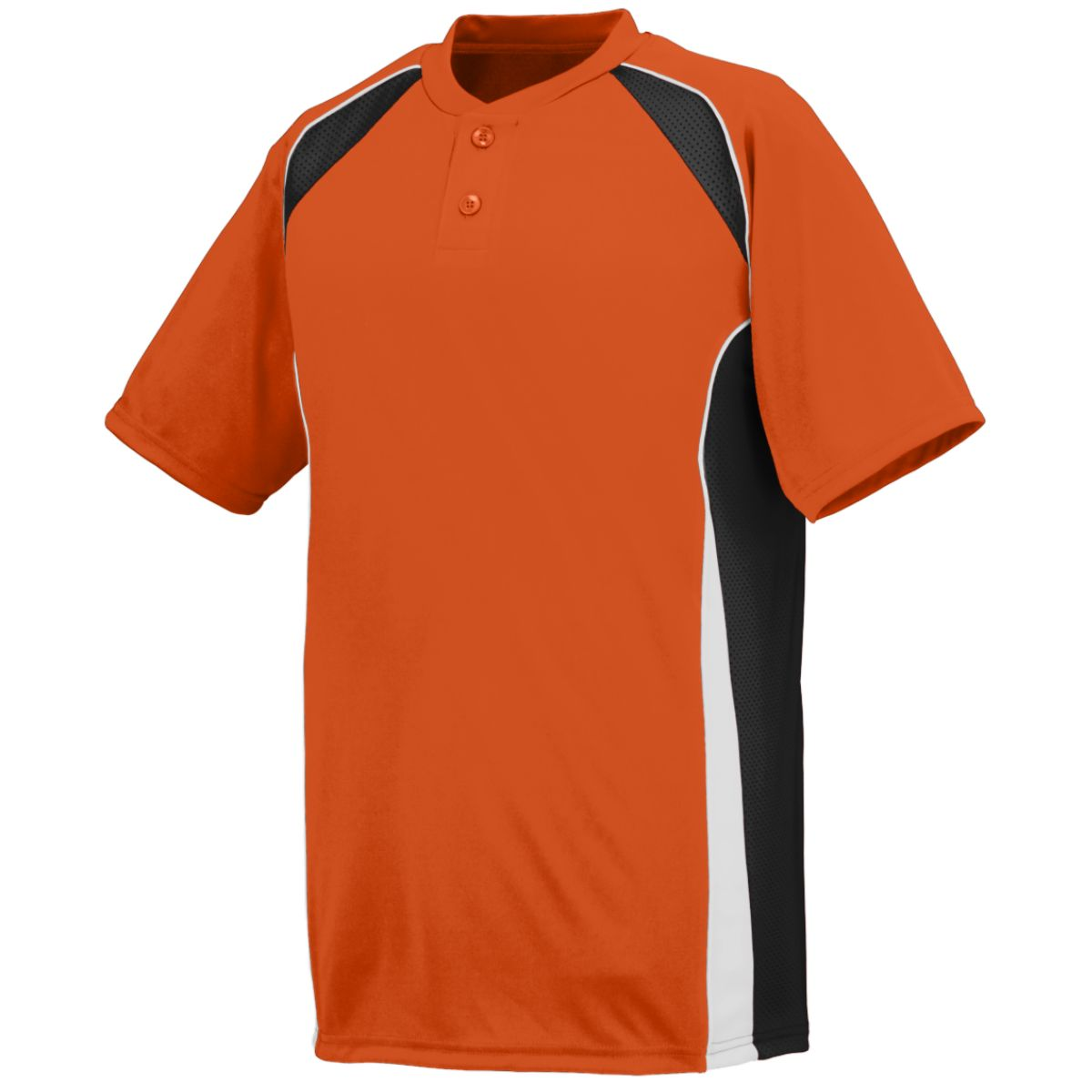 Augusta BASE HIT JERSEY OR BK WH XL by Augusta