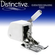 Distinctive Even Feed Walking Sewing Machine Presser Foot - Fits Low Shank (Top-Loading Drop-In Bobbin Machines Only)