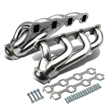 For 79-93 Ford Mustang 4-1 Design 2-PC Stainless Steel Exhaust Header Kit - 5.0L V8 81 82 83 84 85 86 87 88 89 90 91 92