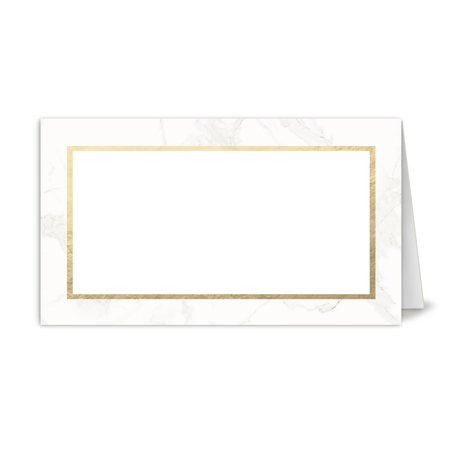 Personalized Wedding Place Card - Classic Marble - 3.5 x 2 Folded](Wedding Placecards)