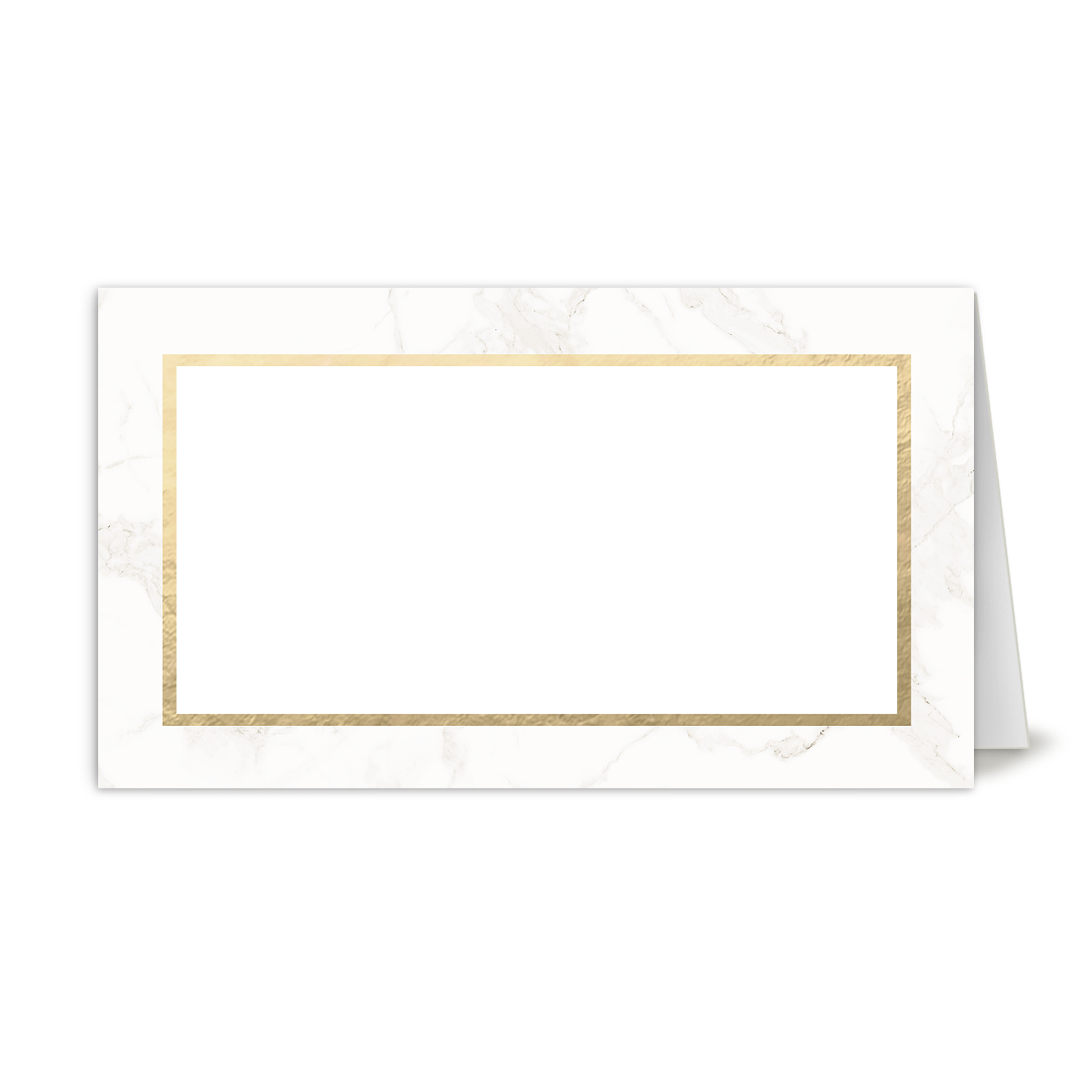 Personalized Wedding Place Card - Classic Marble - 3.5 x 2 Folded