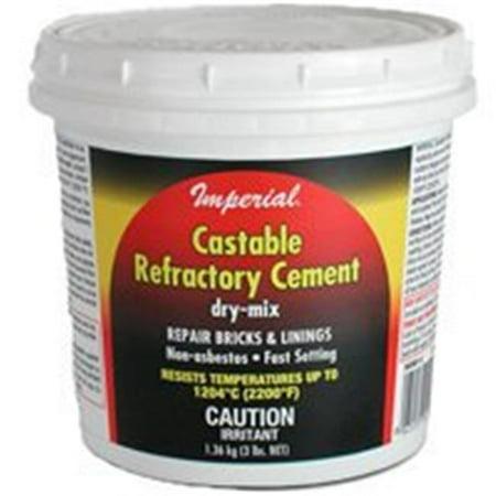 KK0061 Castable Refactory Cement 3 lb 10 Lb Anchoring Cement