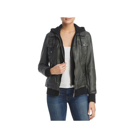 Gold Bagatelle Crystal - Bagatelle Womens Faux Leather Layered Jacket