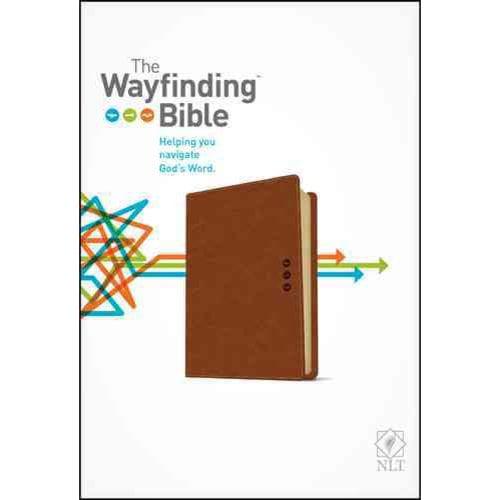 The Wayfinding Bible: New Living Translation, Brown LeatherLike